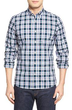 New Nordstrom Men's Shop Plaid Sport Shirt ,SKY fashion online. [$69.5]newoffershop win<<