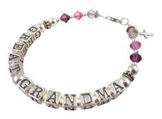 Bracelet for Women with Great Grandma by NameBracelets on Etsy