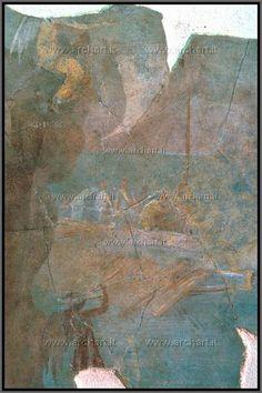 Roma, affresco I sec a.c. da via Graziosa, l'incontro di Ulisse con le Sirene