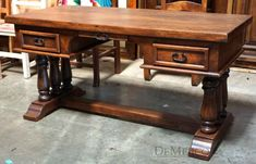 The Escritorio Santa Fe is a classic Spanish desk made from solid mesquite wood.