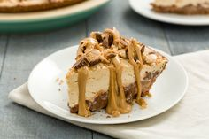 Chocolate-Peanut Butter Cool Whip Pie - (As if this weren't caloric enough, it's garnished with 2 packs of Reese's Peanut Butter Cups. Definitely a special occasion pie. though I do love chocolate and peanut butter together. Cool Whip Pies, Cool Whip Desserts, Frozen Desserts, Holiday Desserts, Just Desserts, Holiday Recipes, Delicious Desserts, Sweet Desserts, Healthy Desserts