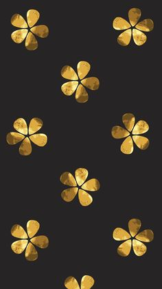 Black And Gold Flowers
