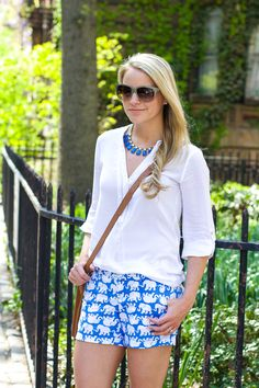 Lilly Pulitzer Belle Haven top in Resort White worn by @styledsnapshots