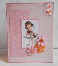 Cute ballerina card, handmade greeting card by Katelyn