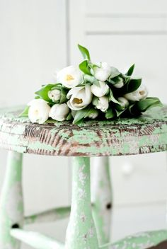 Old Green Stool, still pretty~❥