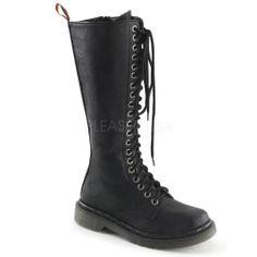 DEMONIA RAGE-400 Women's Hot New Fashion 20 Eyelet Vegan Combat Boot