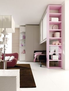 Bedroom set with bridge wardrobe for girls 207 | Bedroom set - Doimo CityLine