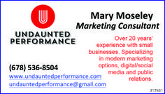 Mary Moseley   Marketing Consultant     Over 20 years' experience with small businesses. S...