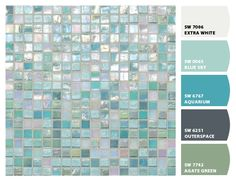 South Beach tile palette; these are the colors I am re-doing the dungeon part of the house in...when it's finally mine :)