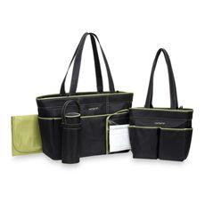 Carter's® 5-Piece Diaper Bag Set - Black/Sage