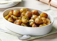 Bring a real flavour of spring to your Easter Sunday roast with fresh green herbs and new potatoes