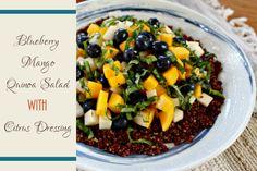 Salad #11: Blueberry Mango Quinoa Salad with Citrus Dressing | this Fox Kitchen