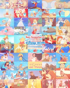 You can't buy happiness but you can buy Disney movies and that's kind of the same thing