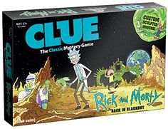Buy Cluedo Mystery Board Game - Rick and Morty Edition today at IWOOT. We have great prices on gifts, homeware and gadgets with FREE delivery available. Mystery Board Games, Rick Und Morty, Cluedo, Ricky Y Morty, Real Detective, Clue Board Game, Clue Games, Joker, Soccer Gifts