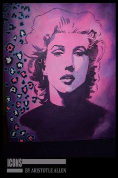 Marilyn Monroe Pop Art iCONS Hanging Canvas