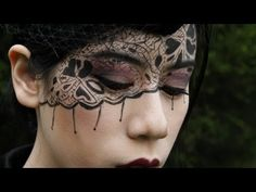 Black Lace Makeup Tutorial - YouTube- TIme Consuming but very interesting...
