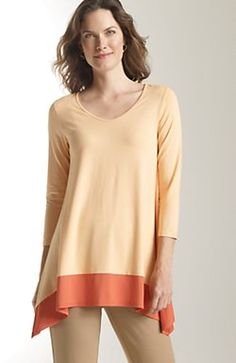 Wearever color block high-low tunic