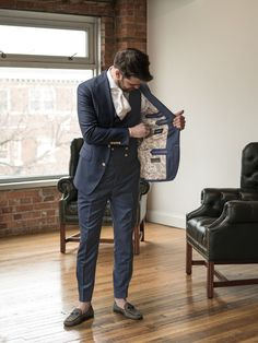 Founded by Tom Daguanno and Max Schmidt, 1701 Bespoke offers metro Detroit grooms an opportunity to wear a truly one-of-a-kind suit for their wedding day. From fabric selection and designing the suit's pattern to coordinating the perfect button and custom monogramming, no detail is overlooked.