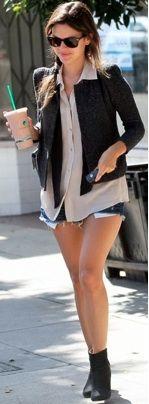 Rachel Bilson, blazer & T combo