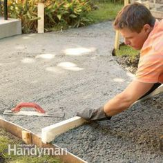 Tips to Build a Concrete Walkway-Build strong, crack-free concrete sidewalks and slabs with these 10 pro tips. Tips include forming edges, leveling, smoothing, curing and other vital steps in creating a first-rate concrete pour. Also, the 10 most common mistakes.