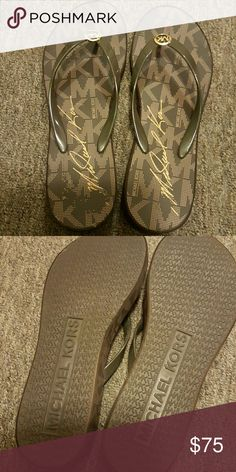 Michael Kors Sandals Only been worn once, Brown. Michael Kors Shoes Sandals