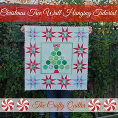 The Crafty Quilter | Christmas Tree Wall Hanging Tutorial | http://thecraftyquilter.com