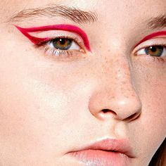 no-makeup makeup + magenta cut crease liner + wing   editorial eye makeup @adrian_rux