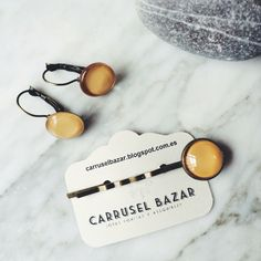 2016 Spring Collection Earrings and bobby pins // Pendientes y horquillas available at www.carruselbazar.bigcartel.com