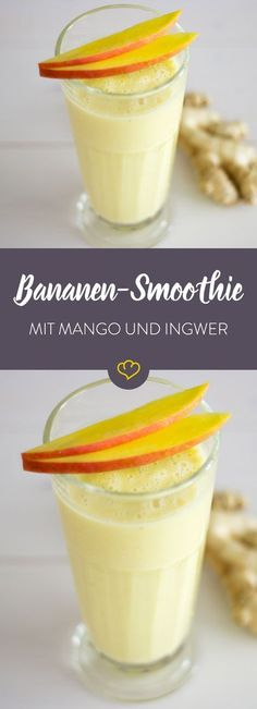 Mango-Banane-Ingwer-Smoothie Summer, sun and an extra creamy, sweet drink in your hand & that& how it& possible to live! The post Mango banana and ginger smoothie appeared first on Jennifer Odom. Smoothie Detox, Smoothie Vert, Smoothie Drinks, Smoothie Mixer, Menu Vegan, Candy Drinks, Low Carb Smoothies, Best Smoothie Recipes, Drink Recipes
