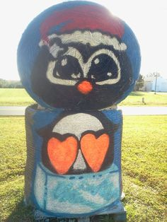 Painted Hay Bale at Hill Ridge Farms by Cyndi McKnight 2012