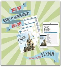 You can get The Walt Disney World®️ Planning Digest for $14 when you enter the code FLYNN at checkout (The book is regularly $17.97).