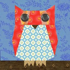 Owl paper pieced block Pattern
