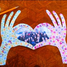 "cute craft ~ Phi Sigma ""hand sign""!"