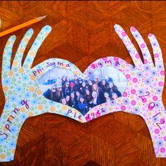 "cute craft ~ Phi Sigma ""hand sign""!"