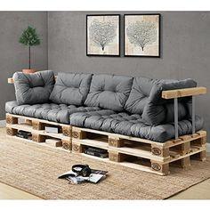 159.90 EUR Euro Paletten-Sofa - DIY Möbel - Indoor Sofa mit Paletten-Kissen / Ideal für Wohnzimmer - Wintergarten (2 x Sitzauflage und 5 x Rückenkissen) Grau https://www.amazon.de/en-casa-Euro-Paletten-Sofa-Paletten-Kissen-Wintergarten/dp/B01M9C8P53/ref=as_li_ss_tl?ie=UTF8&qid=1485005430&sr=8-3&keywords=palette+m%C3%B6bel&linkCode=ll1&tag=luque-21&linkId=e7c933f0ffe67d228a3b5e32ae7930ca