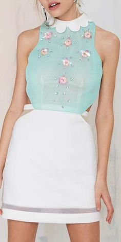 gorgeous sequined details