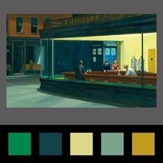 Kleuren palet van favoriete schilderij | Corneel Online