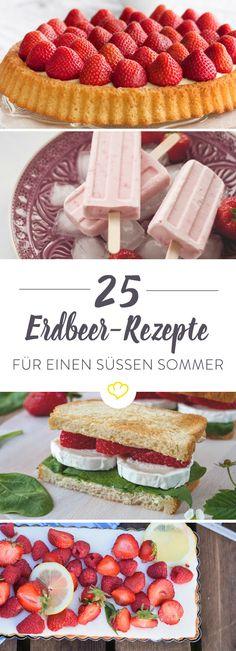 Vom klassischen Kuchen bis hin zum Erdbeer-Sandwich für den Mittagssnack – frisch, süß und fruchtig zeigt sich die Erdbeere in 25 Foodblogger-Rezepten von ihrer allerbesten Seite. So herrlich köstlich schmeckt der Sommer.
