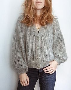 Ravelry: Cardigan No. 4 pattern by My Favourite Things Grey Sweater, Sweater Cardigan, Jumper, Knit Cardigan Pattern, Pulls, Outfits For Teens, Types Of Sleeves, Knit Crochet, Feminine