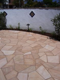 outdoor tile over concrete. Flagstone Laid Over Concrete - Perfect For Under Our Pergola! Outdoor Tile