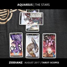 Zodianz Aquarius August 2017 Tarot-Scopes