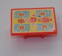 Vtg Fisher Price Little People Play Family Camper Red Table  #994 Replacement #FisherPrice