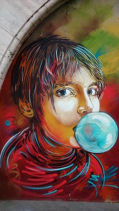 C215 street art in Paris