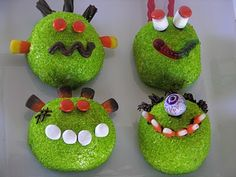 Monsters made from Hostess Snowballs!!