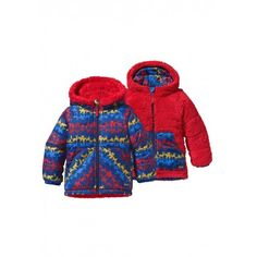 Patagonia Baby Reversible Tribbles Jacket (Animal Parade: Red Delicious)