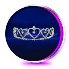The Princess Hearts Pageant or Wedding Crown Tiara