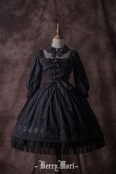 BerryMori -Crystal Jade- Classic Lolita Collar OP Dress