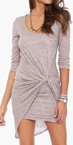 Twist Bodycon Dress // in the fall with slouchy boots would be adorable!