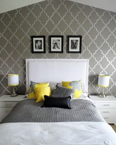Gray And Yellow For The Bedroom For The Home Pinterest