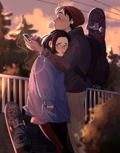 Life Is Strange Drawing Art Cute Couple Drawings, Cute Couple Art, Cute Drawings, Aesthetic Art, Aesthetic Anime, Character Inspiration, Character Art, Life Is Strange Fanart, Cartoon Art Styles